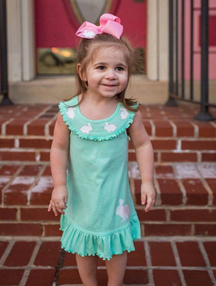 Girls Monogrammed Easter Dress
