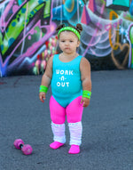 Girls 80s Workout Costume