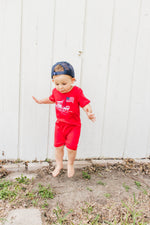 boys fishing romper