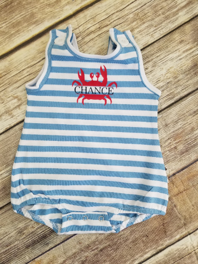 Toddler Boys Crab Romper