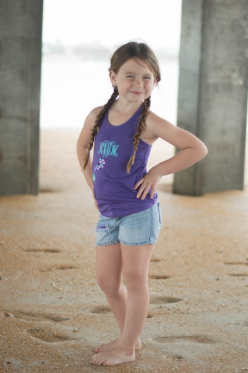 Monogrammed Mermaid Tank Top