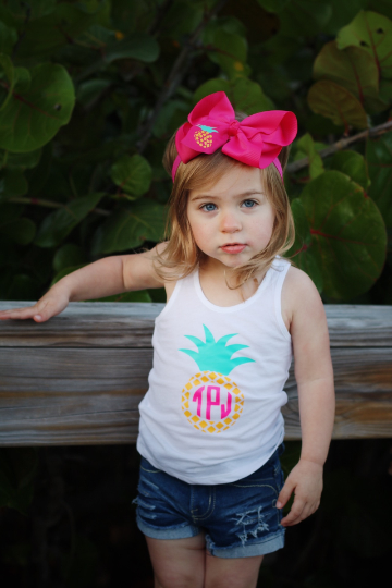 Monogrammed Pineapple Tank Top