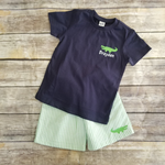 Alligator Tee or Seersucker Shorts Outfit