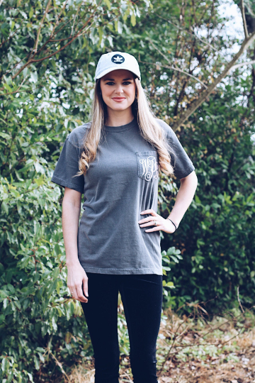Pocket Monogram Comfort Colors Shirt