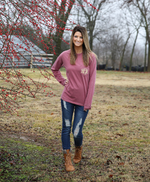 Monogrammed Comfort Colors Long Sleeve Shirt
