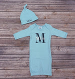 "alt=""boys monogram newborn set"""