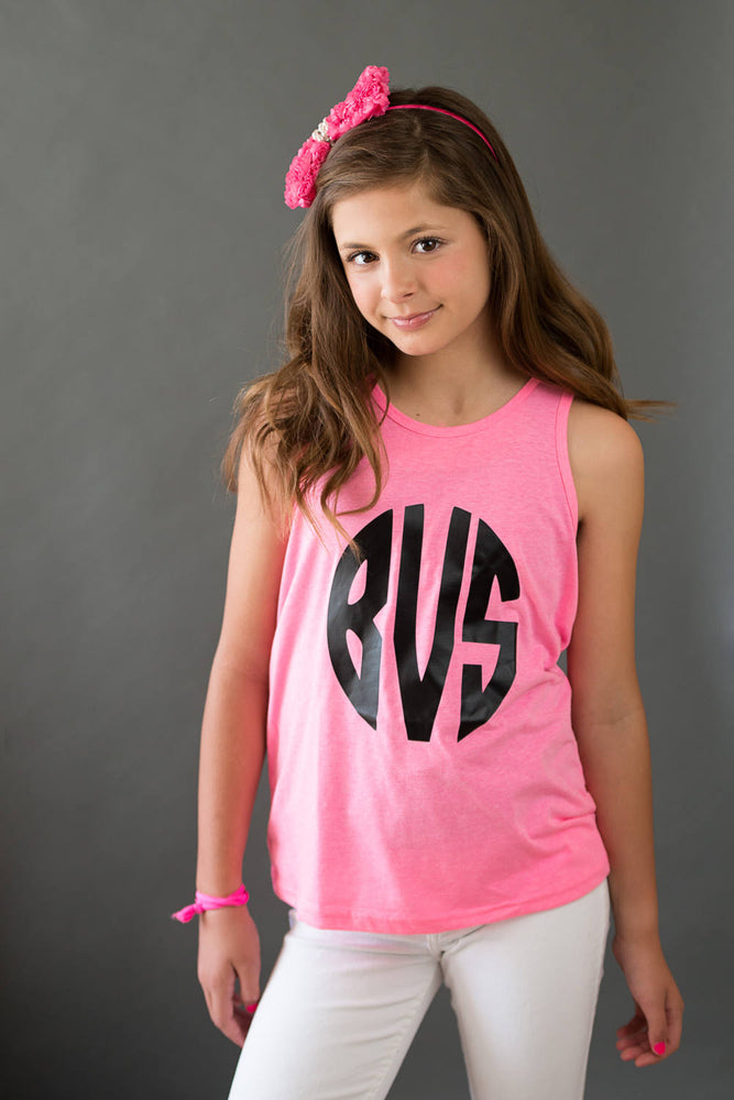 Girls Monogram Tank Top