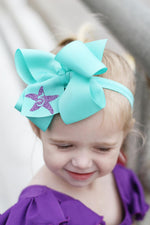 Mermaid Birthday Bow