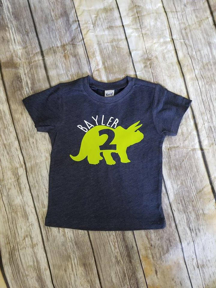 Personalized Dinosaur Birthday Shirt