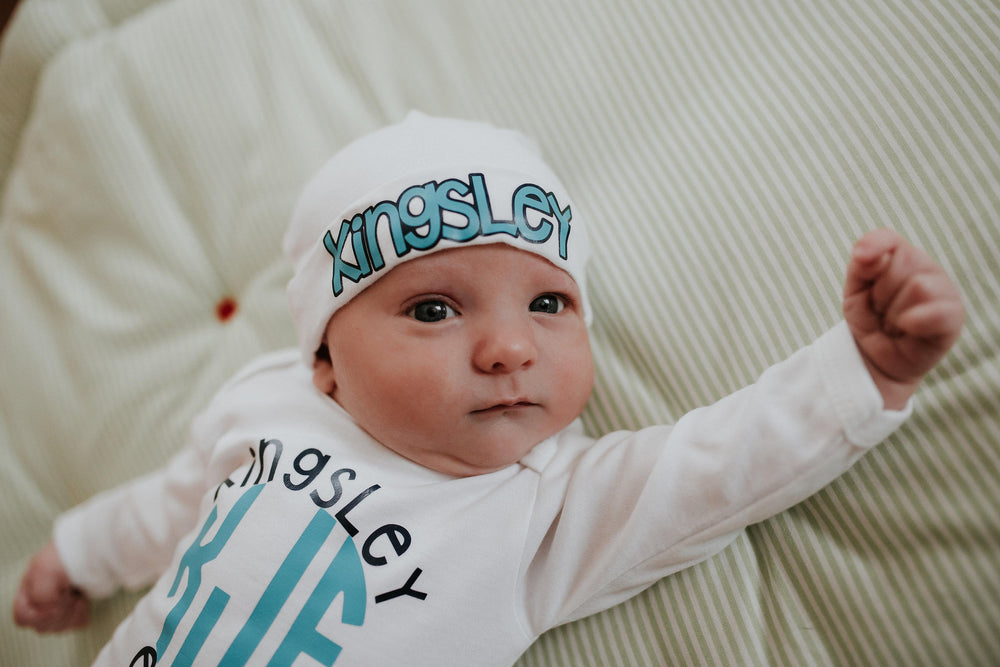 "alt=""personalized baby boy hat"""
