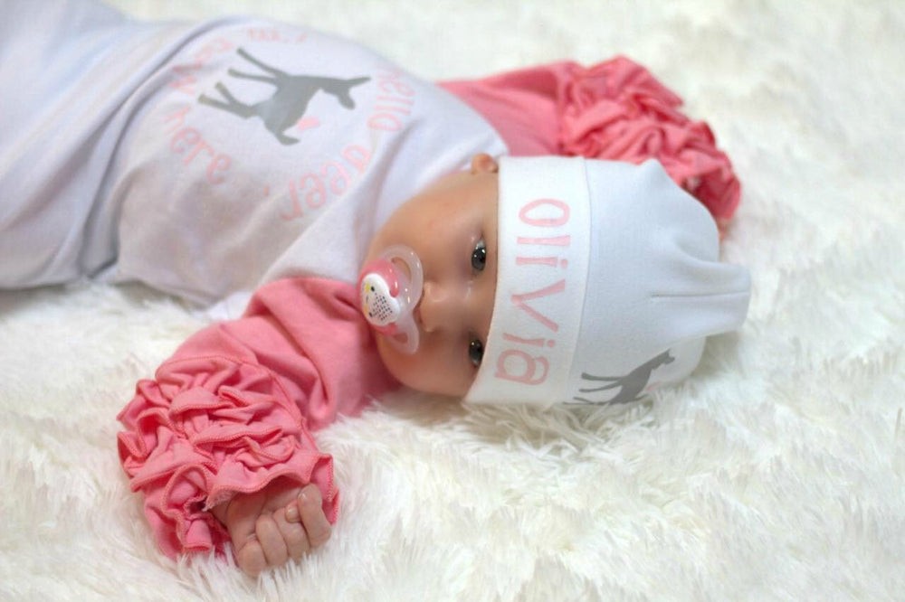 Personalized Baby Girl Deer Hat