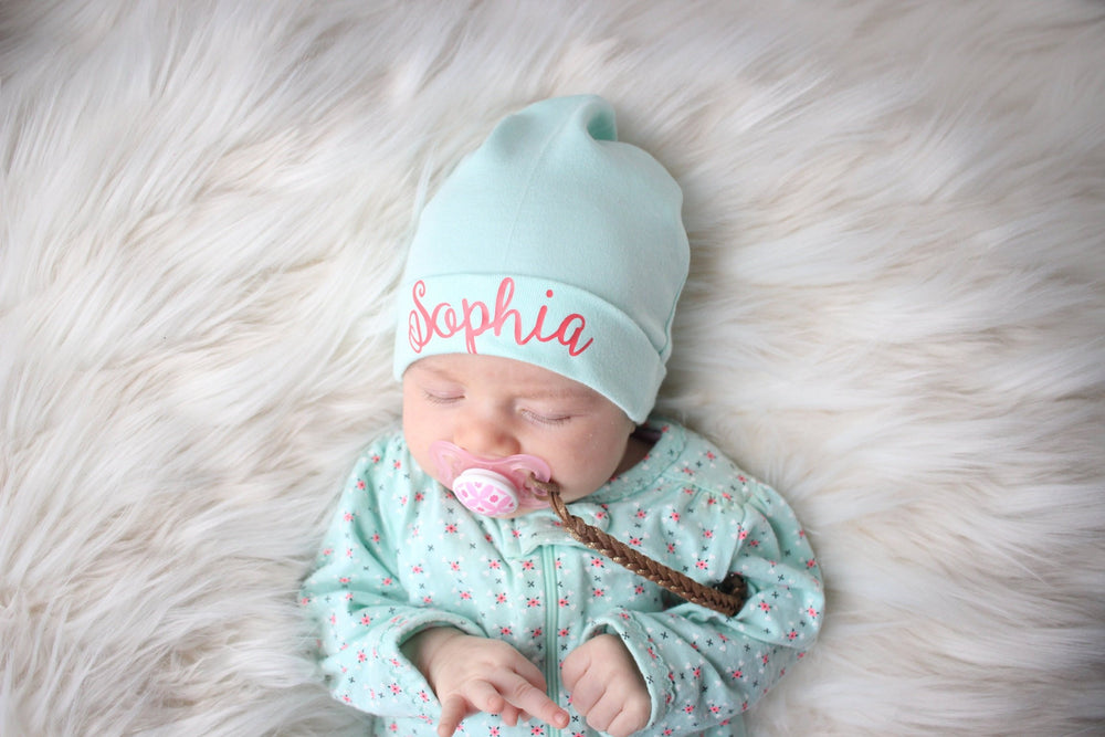 Personalized Spring Baby Hat