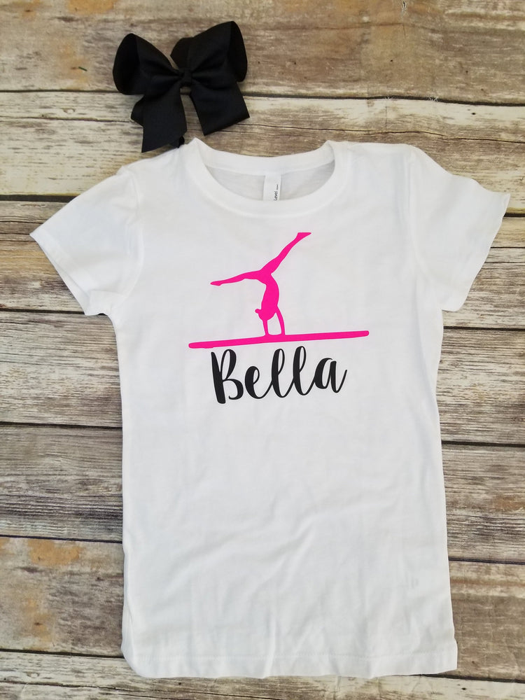 Personalized Gymnastics Birthday Party Shirt