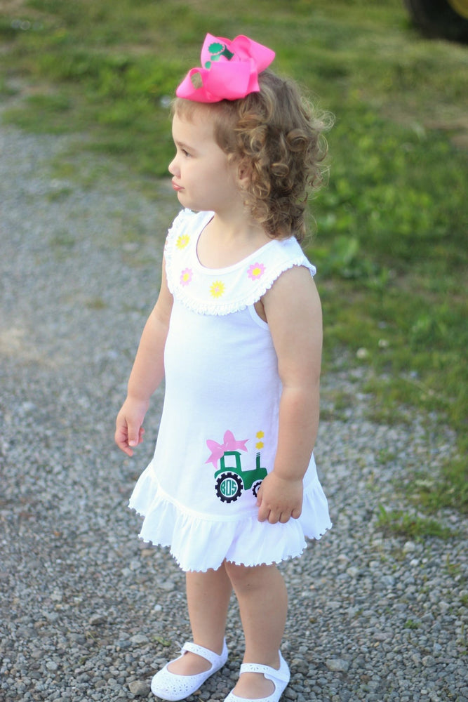 "alt=""girls tractor dress"""