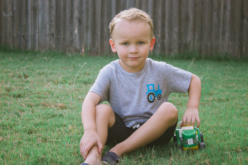 Boys Personalized Tractor Birthday Outfit