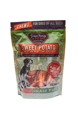 Sweet Potato Chews - 14 oz. bag - FREE SHIPPING