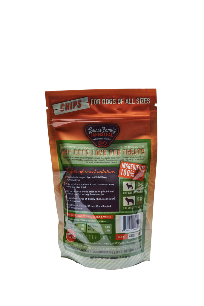 Sweet Potato Chips - 4 oz. bag - FREE SHIPPING