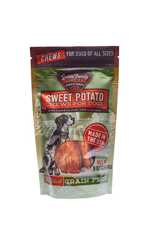 Sweet Potato Chews - 8 oz. bag - FREE SHIPPING