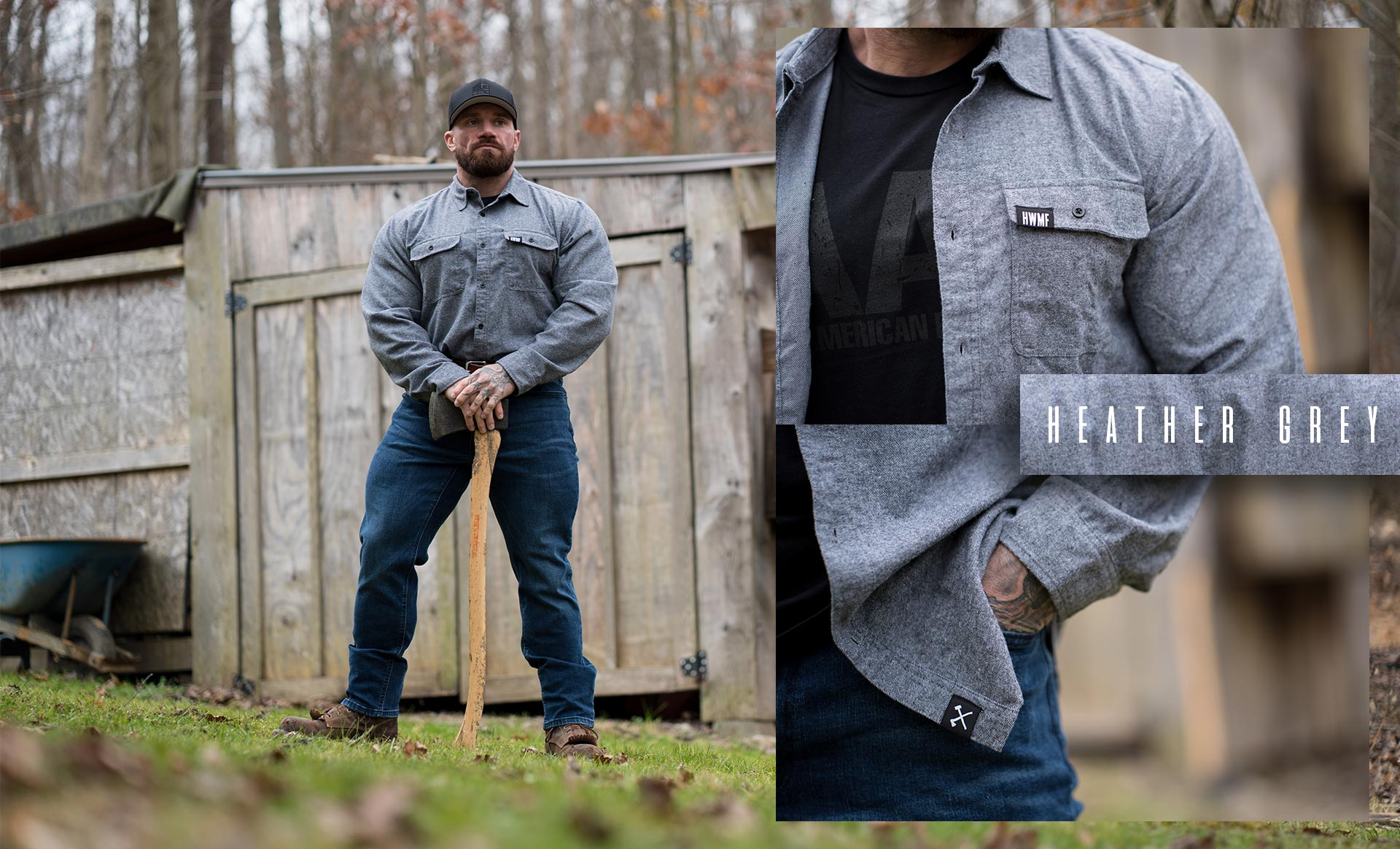 Heather Grey Flannel