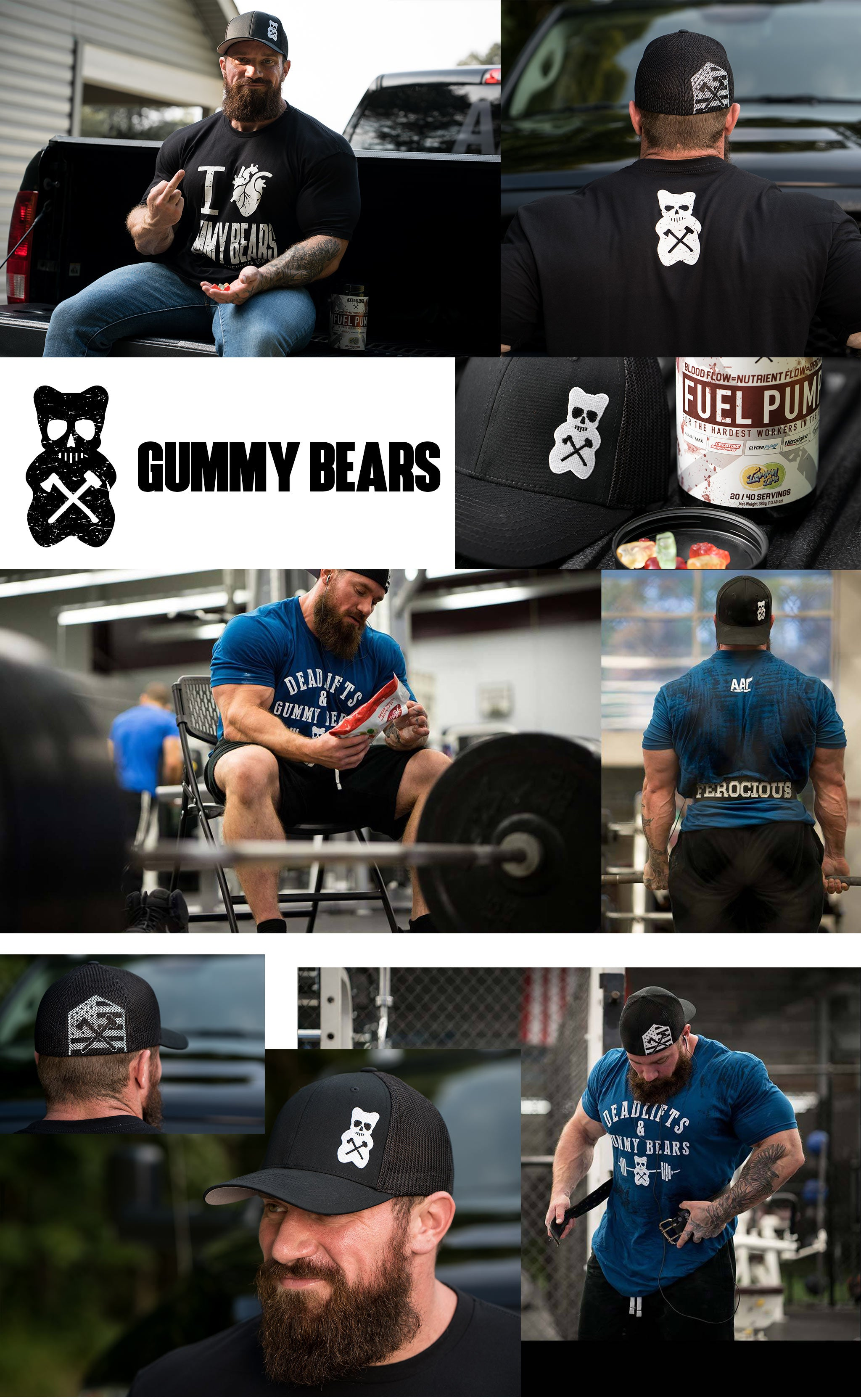 Gummy Bear Tees and Hats