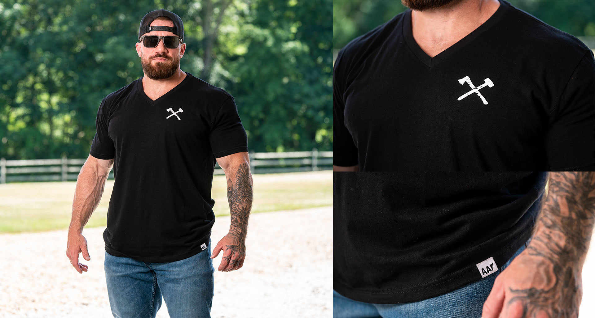 Simple V-Neck Black