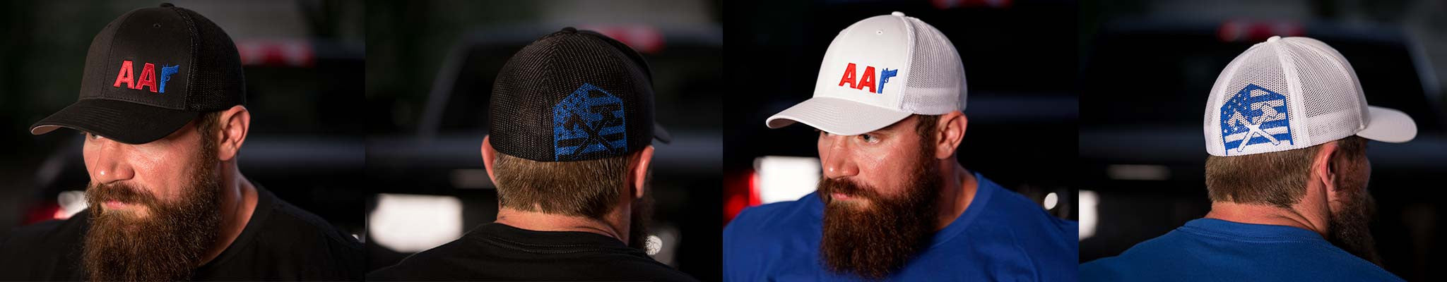 Red/Royal Mesh Hats