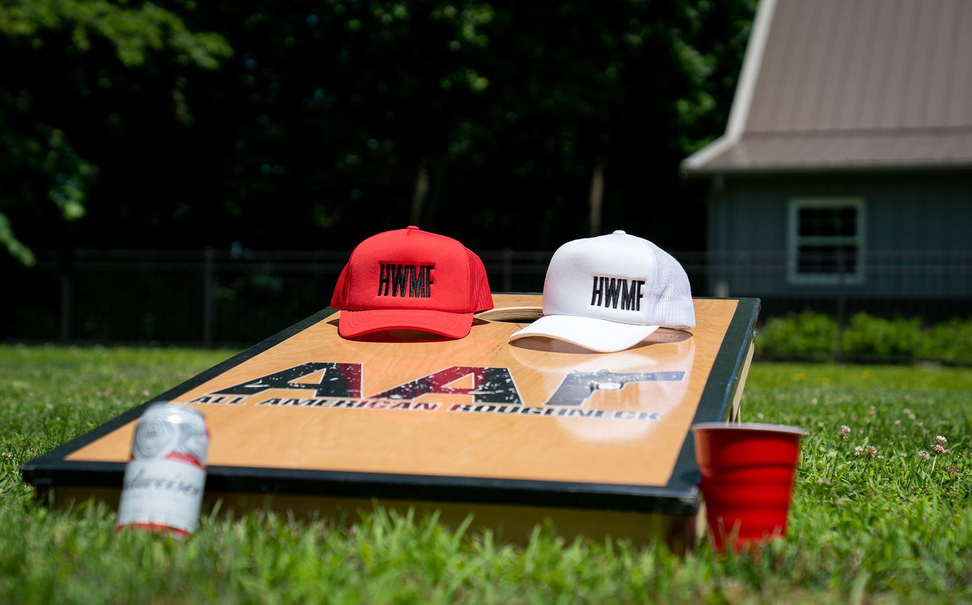 Red and White Foam Truckers