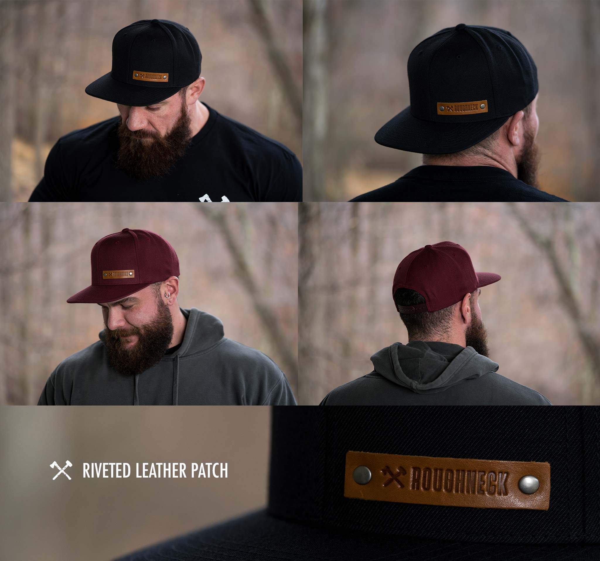 Riveted Leather Patch Hat