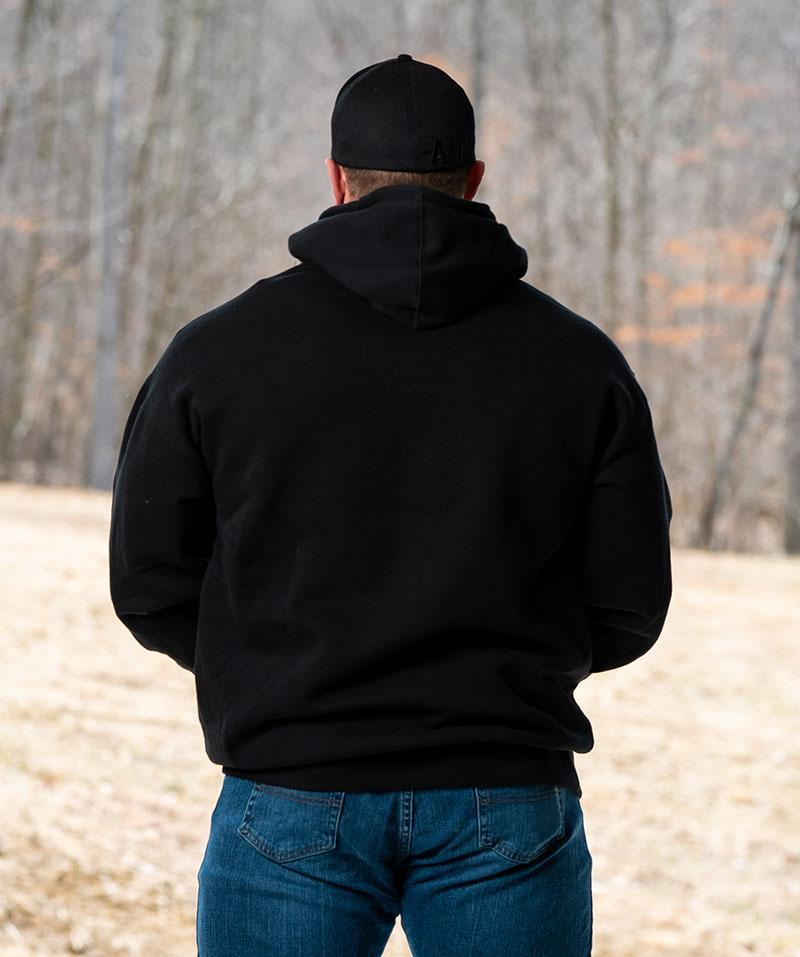 White on Black Roughneck Hoodie