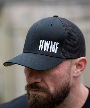 HWMF Mesh Hat - White on Black