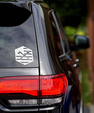 Axe X Sledge Car Decal
