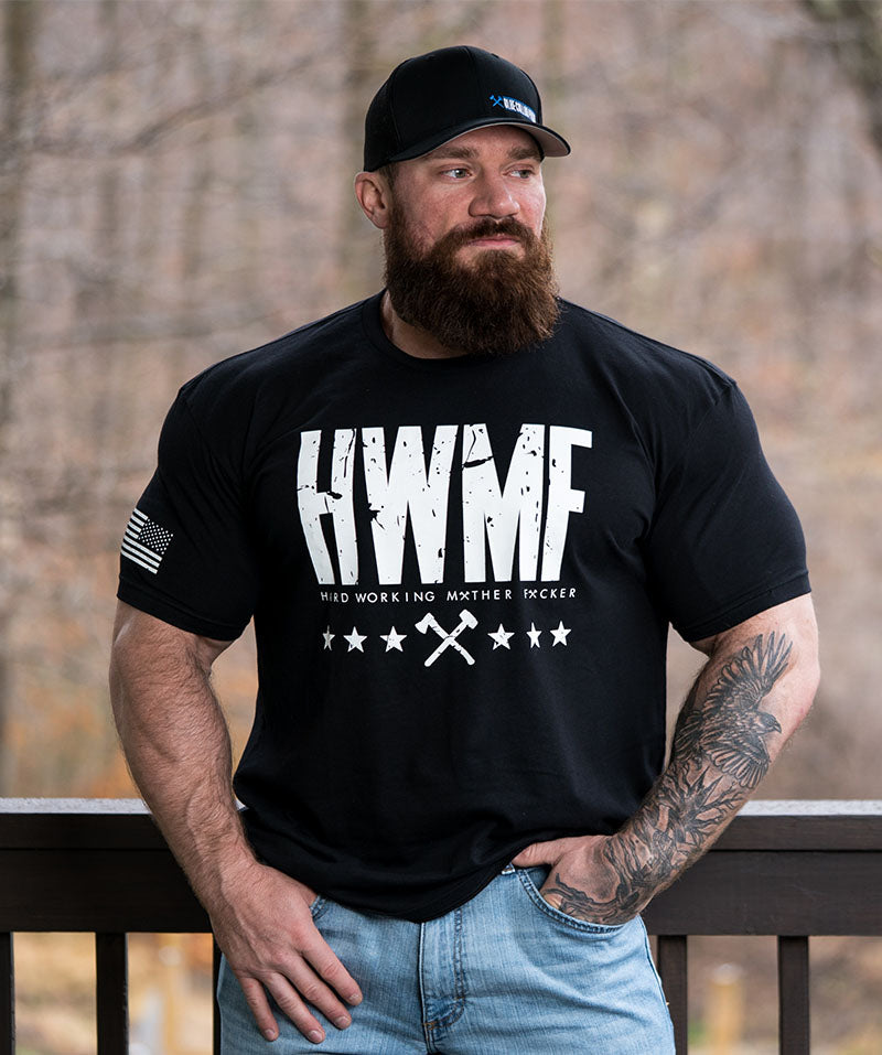 White on Black HWMF Tee
