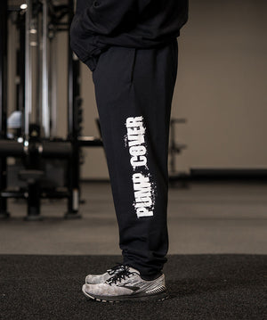 Black Pump Cover Joggers