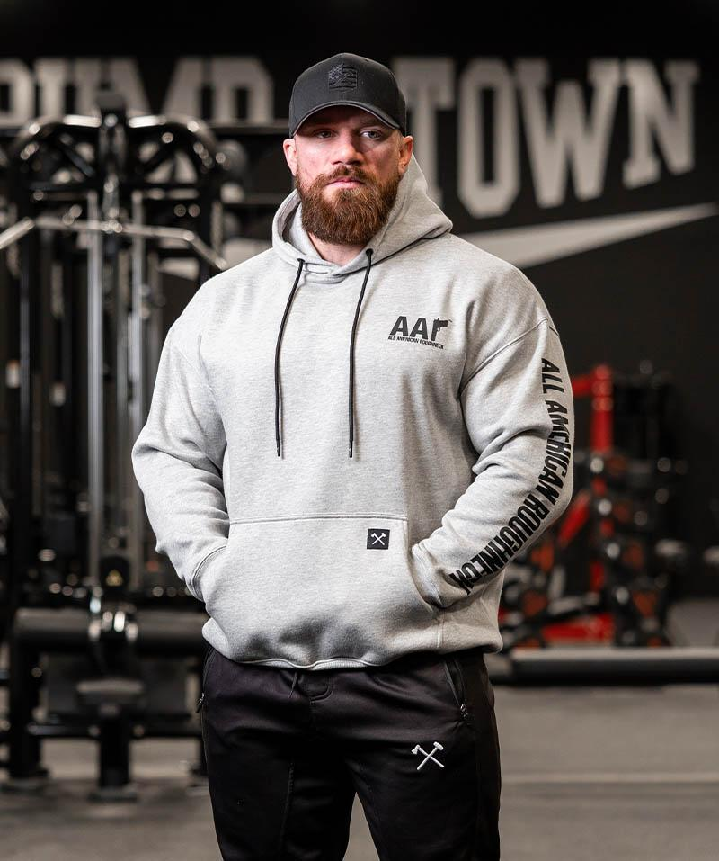 Black On Heather Gray Logo Hoodie