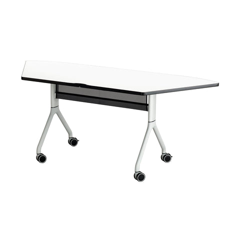 Rumba Trapezoid Table X Stretch Desks Canada - Trapezoid conference table