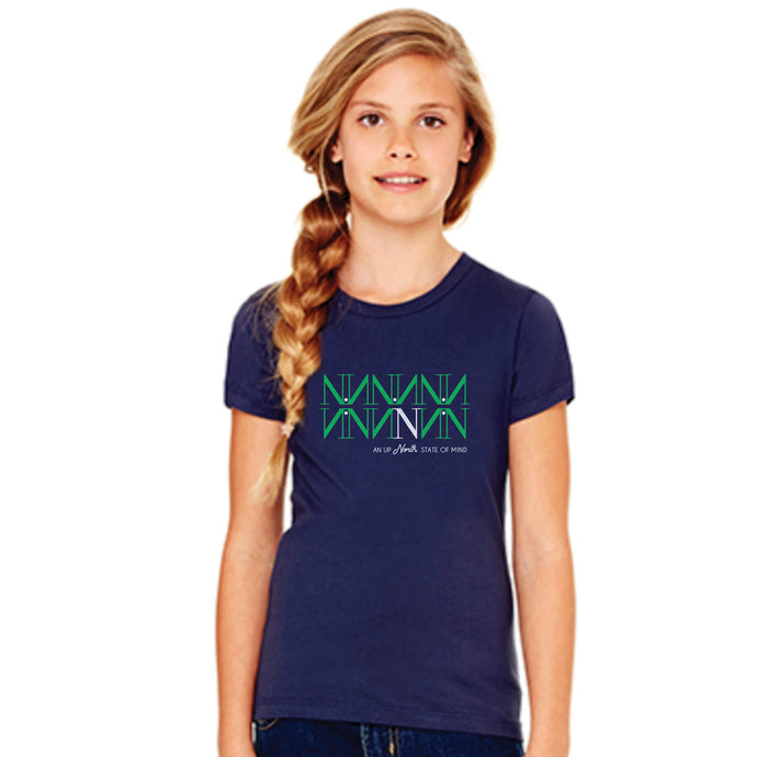 Northern State Girls Tee – Navy