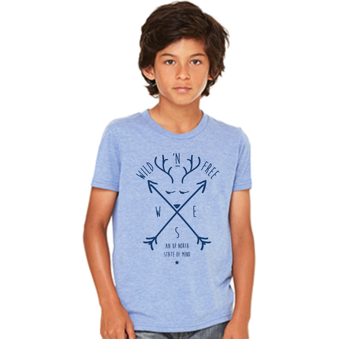 Wild 'N Free Tee - Light Blue