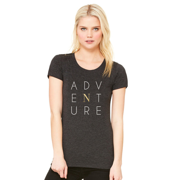 Adventure Tee - Triblend Charcoal