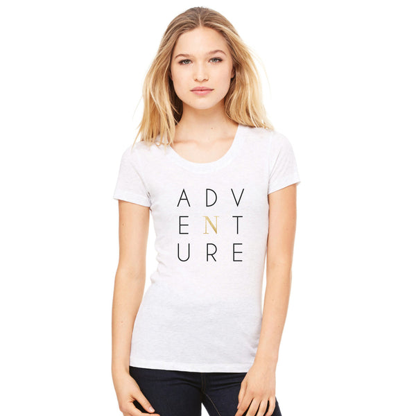 Adventure Tee - Triblend White Fleck