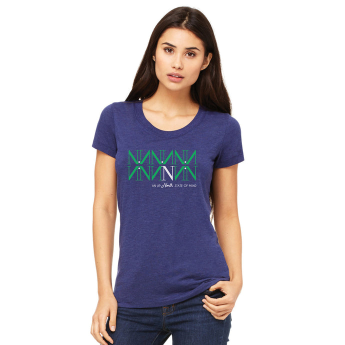 Navy Northern State Women's Tee Shirt, Blue Northern Women's t-shirt front