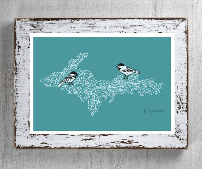 Treetop View – Art Print Teal