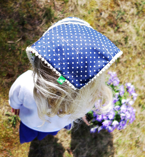 Girl's Headscarf, Reversible Headscarf, Bluebell, Life and Whim, Traverse City