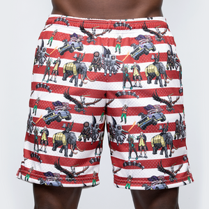 Mesh Zipper Shorts: Team America