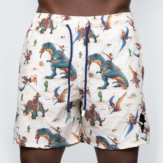 Load image into Gallery viewer, Swim Trunks: Jurassic Western