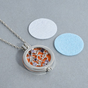 Glass Locket necklace Fragrance Essential Oil Pendant - CanadianGeeseWholesale