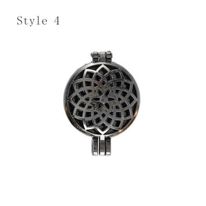 16 Styles Hollow Flower Aromatherapy Essential Oils Locket Pendant Charms - CanadianGeeseWholesale
