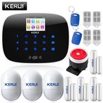KERUI LCD PIR Sensor GSM Support 2G/4G signal Android and IOS APP Control