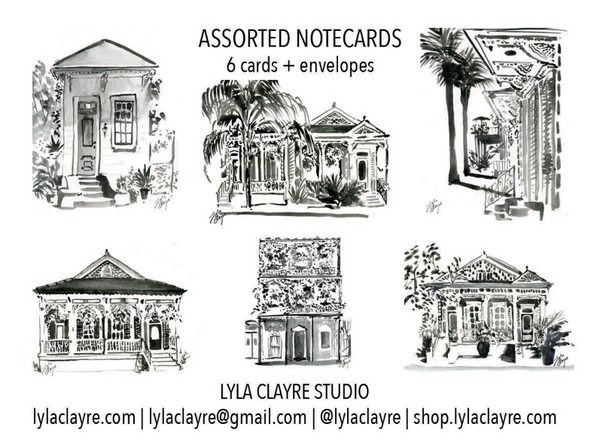 New Orleans Black & White Architecture Stationery Set