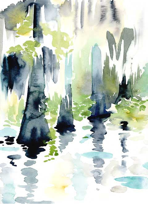Cypress Swamp watercolor print