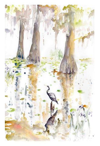 Louisiana Cypress Triptych, right panel